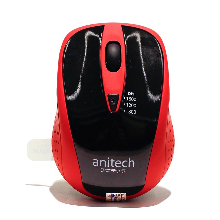 Chuột quang không dây Anitech W214-RD (Màu đỏ)