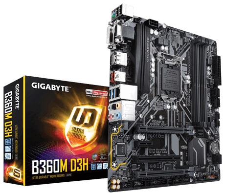 Main Gigabyte GA-B360M-D3H (Chipset Intel B360/ Socket LGA1151/ VGA onboard)