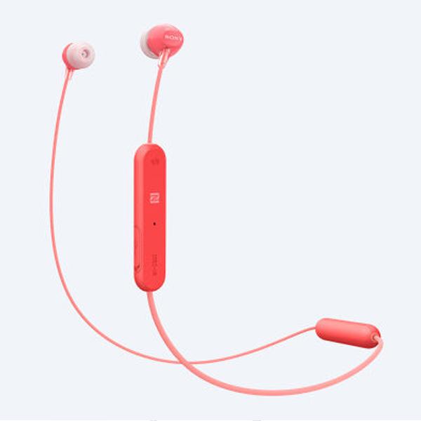 Tai nghe không dây nhét tai Sony WI-C300/R (Đỏ)