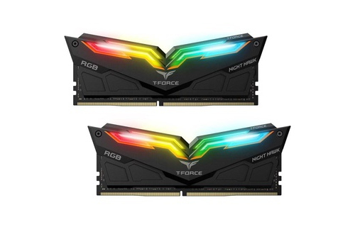 RAM Team T-Force Night Hawk RGB 16Gb (2x8Gb) DDR4-3000Mhz (Black)