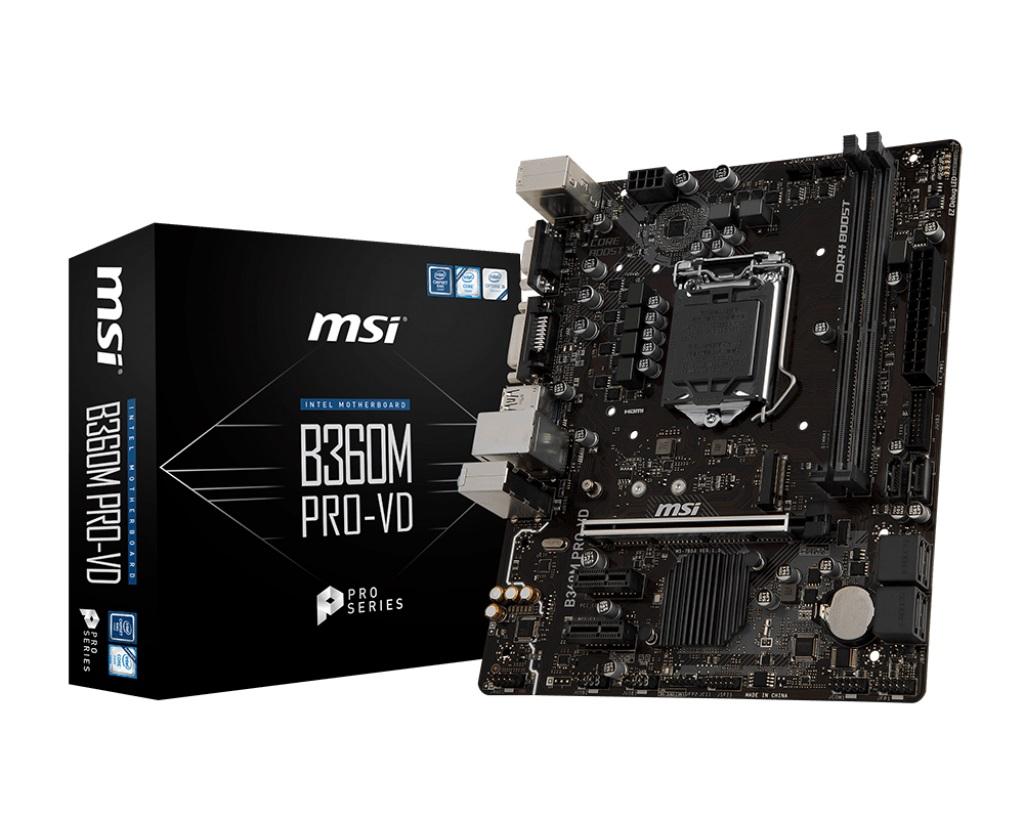 Main MSI B360M PRO-VD (Chipset Intel B360/ Socket LGA1151/ VGA onboard)
