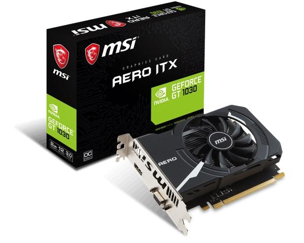VGA MSI GT 1030 AERO ITX 2G OCV1 (NVIDIA Geforce/ 2Gb/ DDR5)