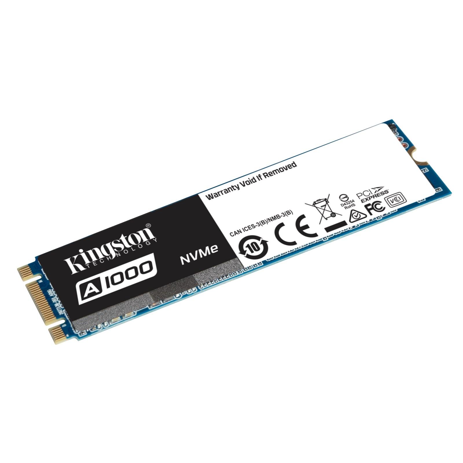 Ổ SSD SSD Kingston SA1000M8 480Gb PCIe NVMe Gen3 480Gb M2.2280 (đọc: 1500MB/s /ghi: 900MB/s)