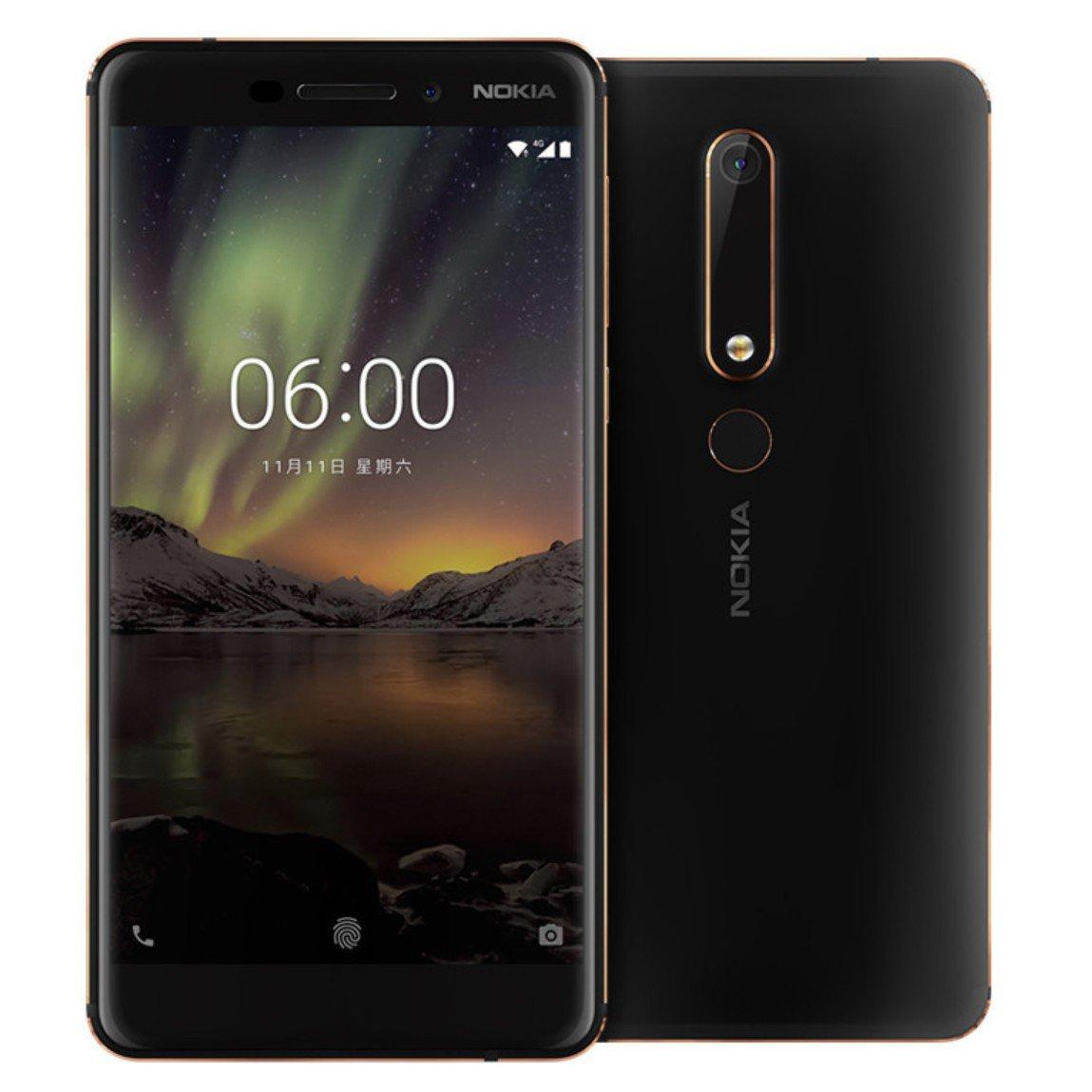 Nokia 6 (2018) (Black)- 5.5Inch/ 32Gb/ 2 sim