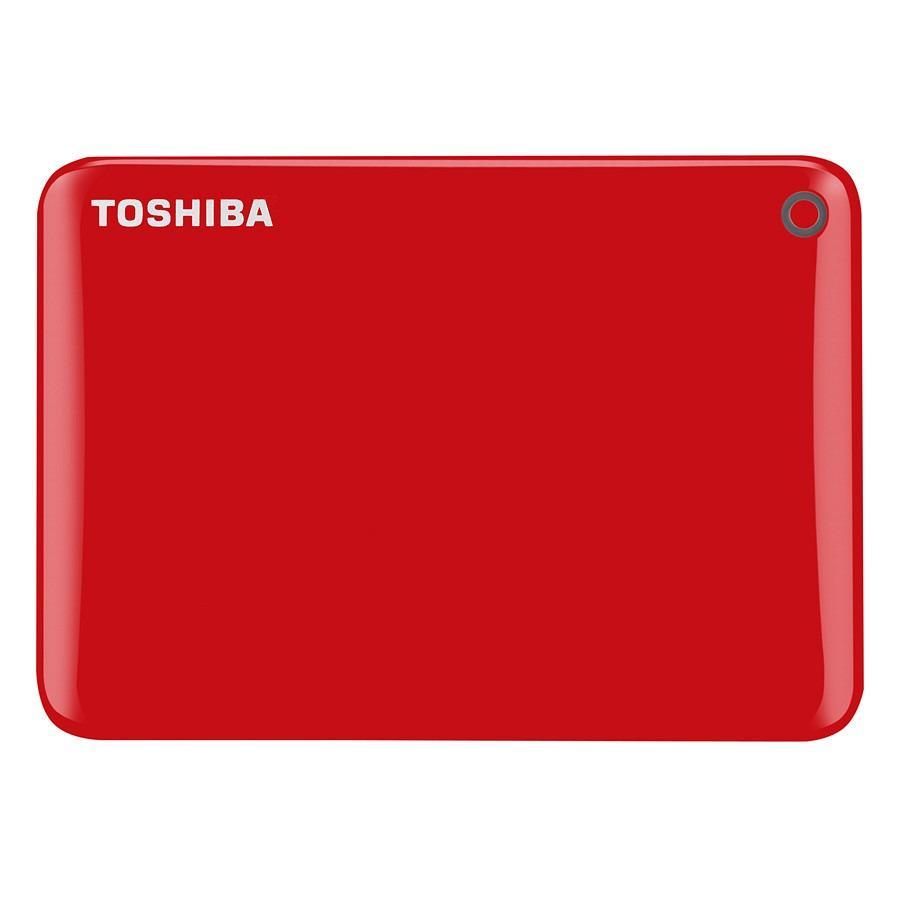 Ổ cứng di động Toshiba Canvio Connect Portable V9 2TB - Đỏ