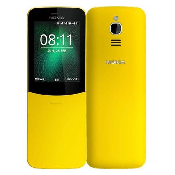 Nokia  8110 4G (Yellow)- 2.4Inch/ 2 sim