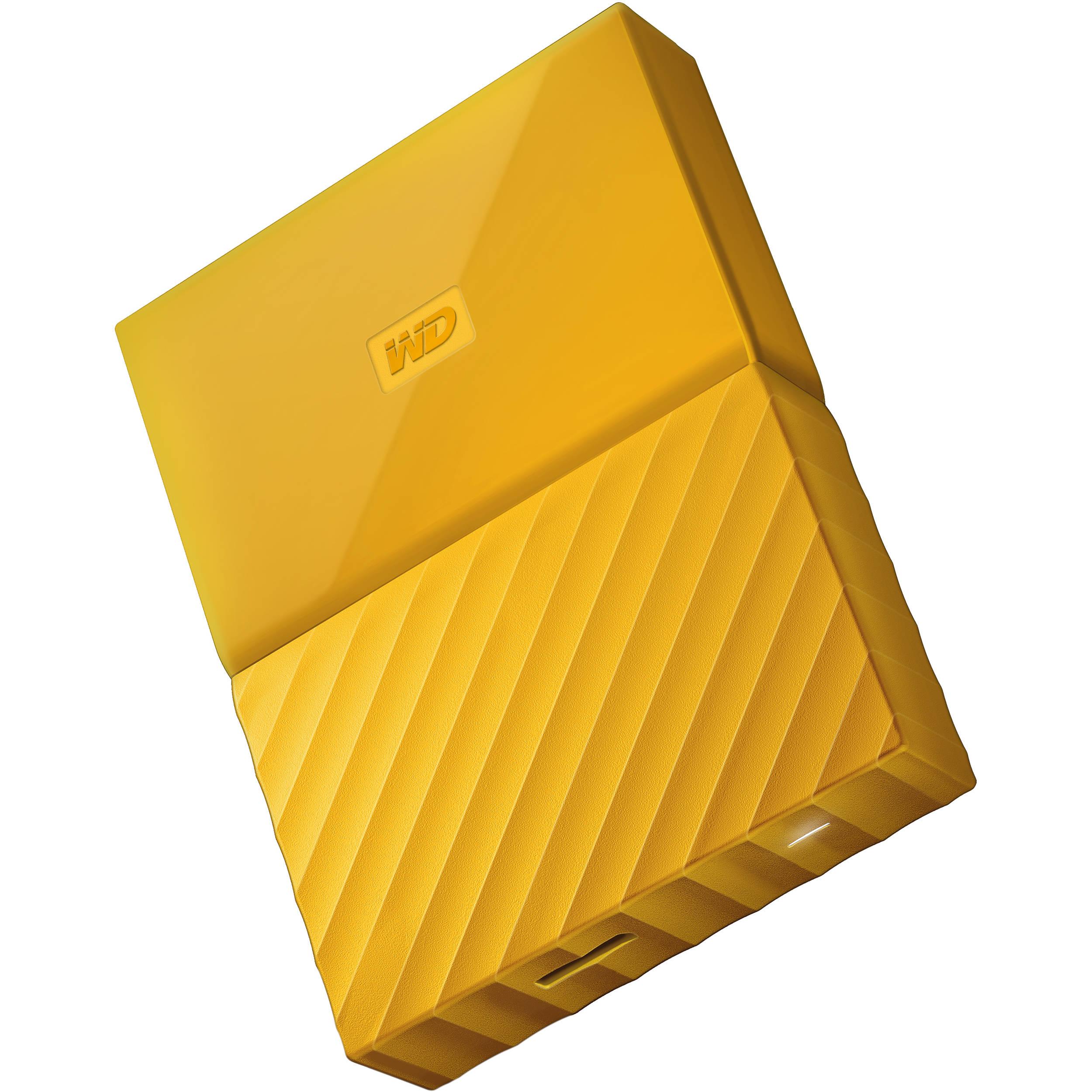 Ổ cứng di động Western Digital My Passport 2Tb USB3.0 - Vàng