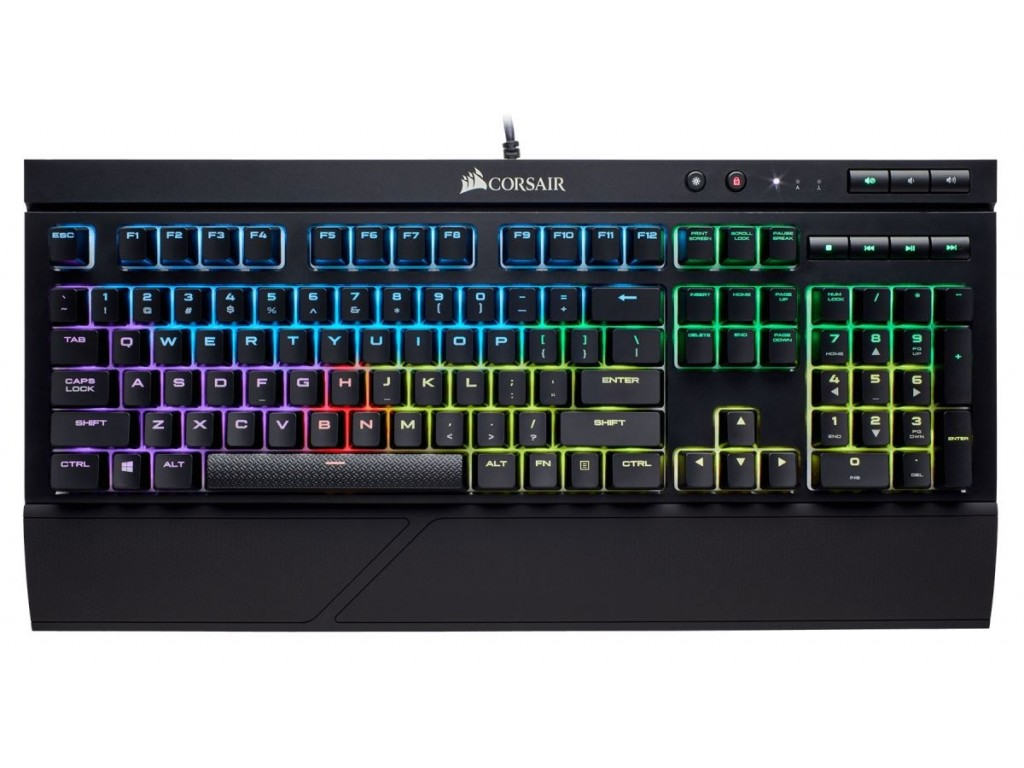 Bàn phím cơ Corsair K68 RGB Cherry MX Blue (CH-9102011-NA) (USB) (Chống nước, chống bụi)