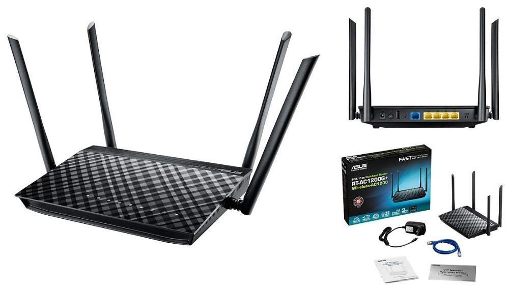 Bộ phát wifi Asus RT-AC1200G+ AC1200Mbps