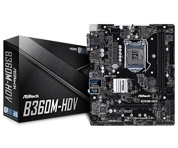 Main Asrock B360M HDV (Chipset Intel B360/ Socket LGA1151/ VGA onboard)