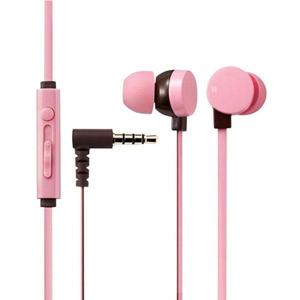 Tai nghe Elecom nhét tai có mic EHP-CS3550CPN-G (Hồng)