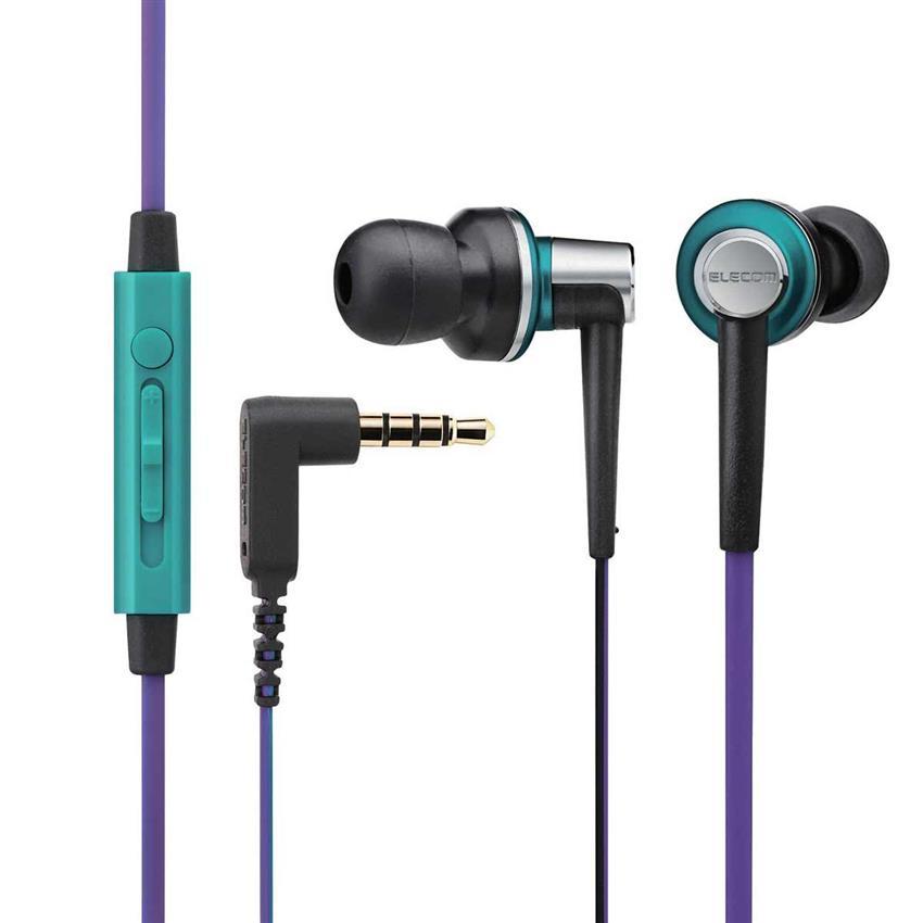 Tai nghe Elecom nhét tai có mic EHP-CS3560GPU-G (Xanh Tím)