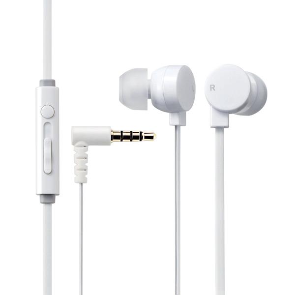 Tai nghe Elecom nhét tai có mic EHP-CS3550WH-G (Trắng)