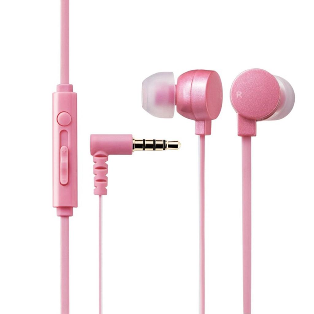 Tai nghe Elecom nhét tai có mic EHP-CS3550PNL-G (Hồng)