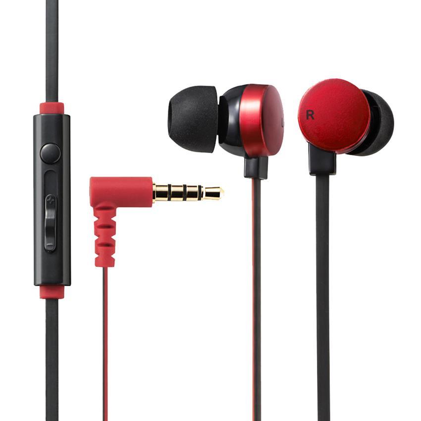 Tai nghe Elecom nhét tai có mic EHP-CS3550RD-G (Đỏ)