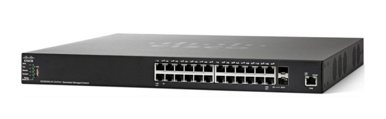Thiết bị chia mạng Cisco SF350-24P-K9-EU POE Managed Switch