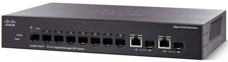 Thiết bị chia mạng Cisco SG350-10SFP-K9-EU POE Managed SFP Switch