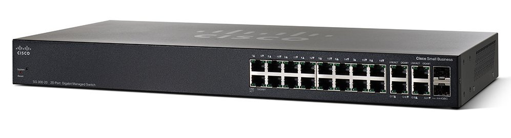 Thiết bị chia mạng Cisco SG350-20-K9-EU Managed Switch