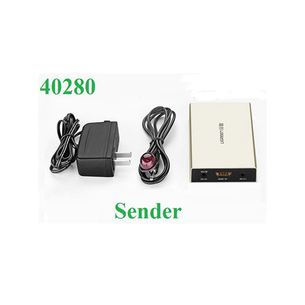 Bộ (nhận) khuyếch đại Ugreen 40280 HDMI 120M qua Lan RJ45