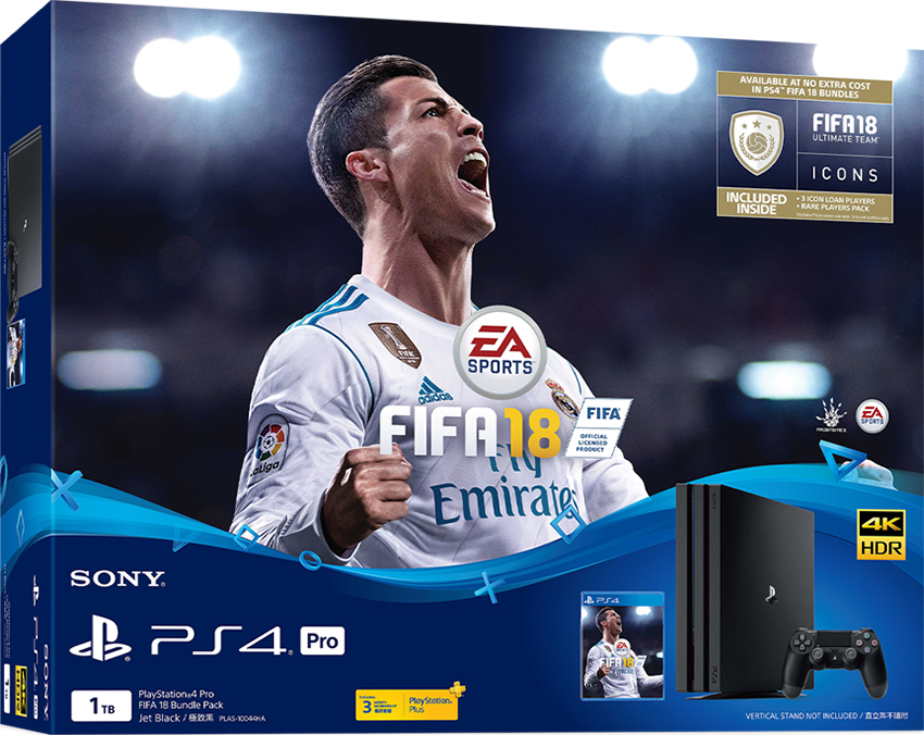 Máy chơi game Playstation PS4 Pro 1Tb + Fifa 18 (CUH-7106B B01)