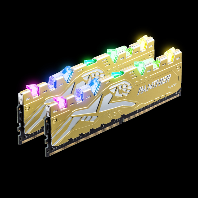 RAM (kit) Apacer Panther Rage RGB DDR4 (2x8) 16Gb 3000 Silver-Golden
