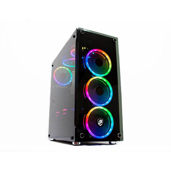 Vỏ máy tính Vitra QUINN W330 TEMPER GLASS 3 Fan Ring RGB (ATX, micro ATX, Mini ITX)