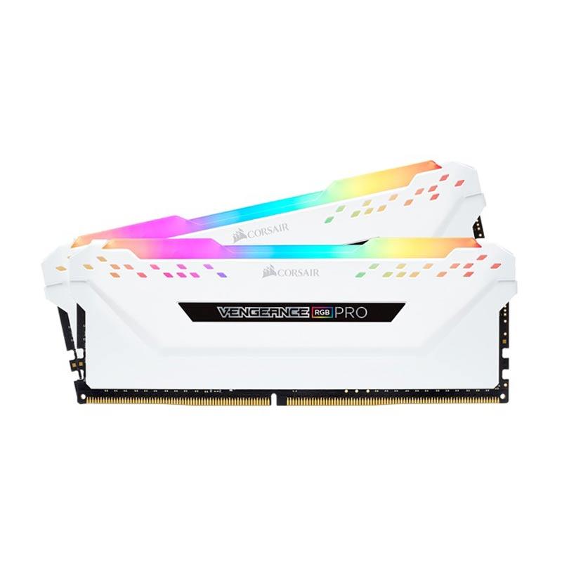 RAM Corsair Vengeance Pro RGB 16Gb (2x8Gb) DDR4-3200-CMW16GX4M2C3200C16W White