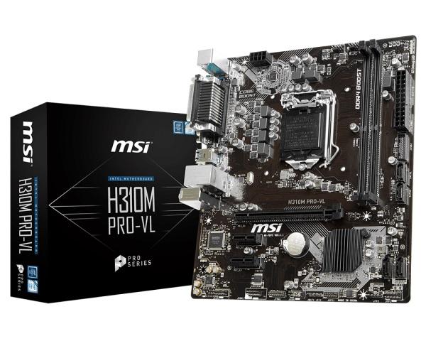 Main MSI H310M PRO-VL (Chipset Intel H310/ Socket LGA1151/ VGA onboard)