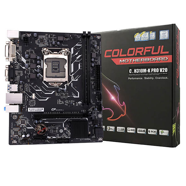 Main Colorful C.H310M-K PRO V20 (Chipset Intel H310/ Socket LGA1151/ VGA onboard)