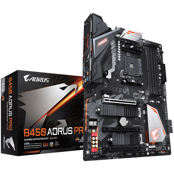 Main Gigabyte B450 AORUS PRO (Chipset AMD B450/ Socket AM4/ VGA onboard)
