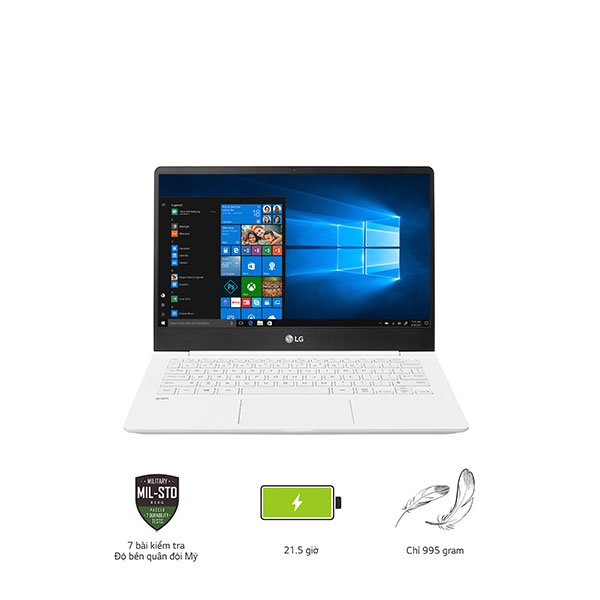 Laptop LG Gram 14ZD980-G.AX52A5 (i5-8250U/8GB/256Gb SSD/14FHD/VGA ON/Dos/White)