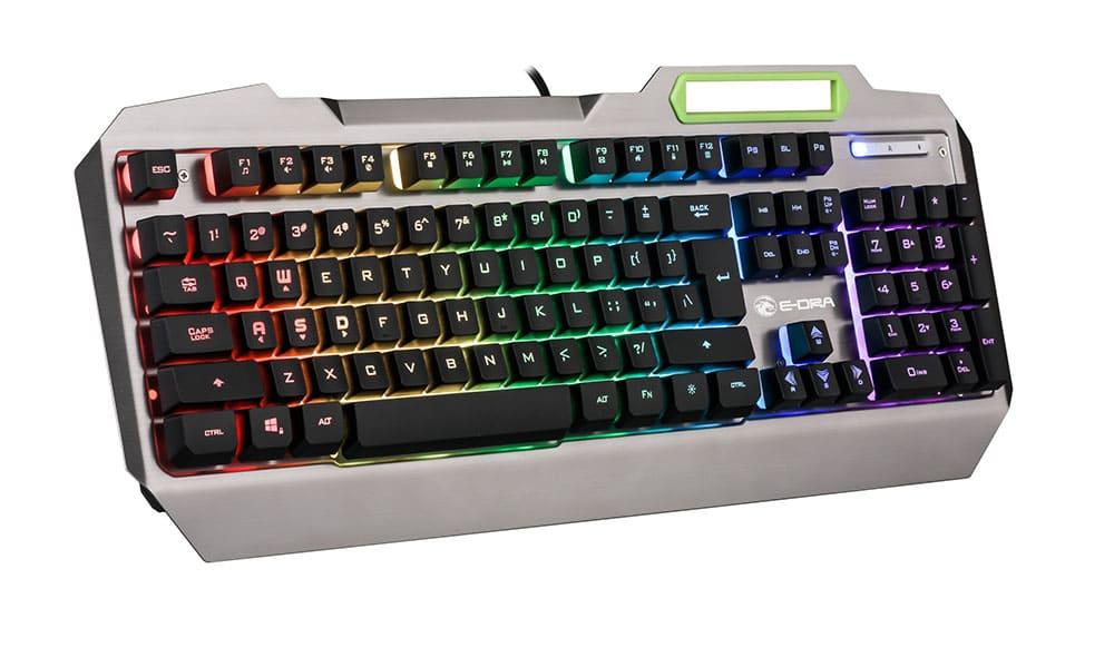 Bàn phím bán cơ E-Dra EK700 Gaming (Silver) (USB)