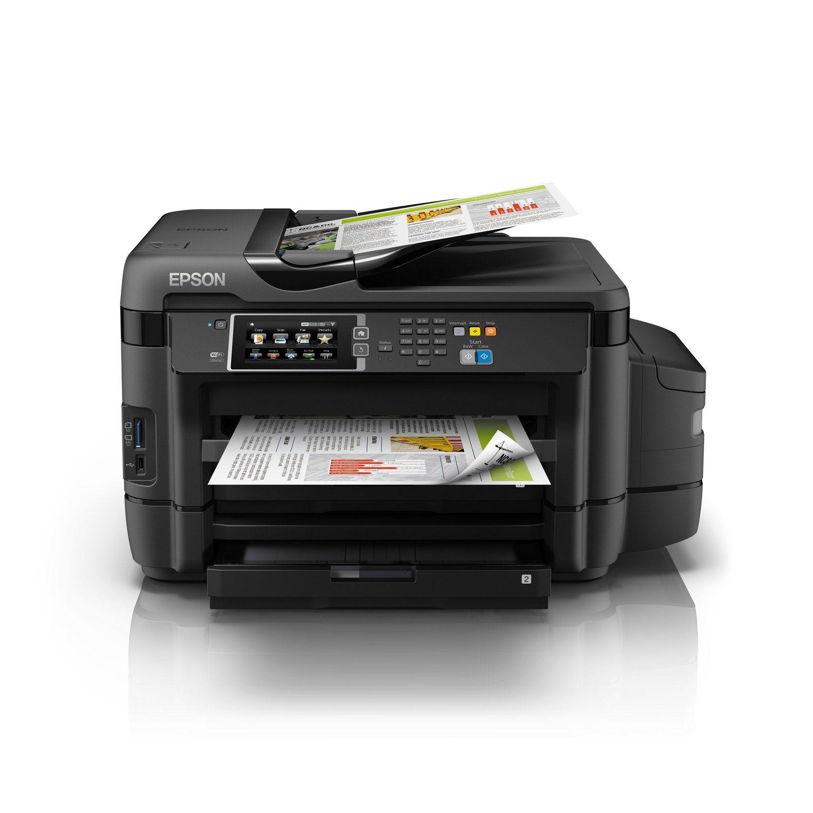 Máy in phun màu đa chức năng  Epson L1455 (In, Scan, Copy, Fax với ADF, tiếp mực ngoài chính hãng.)