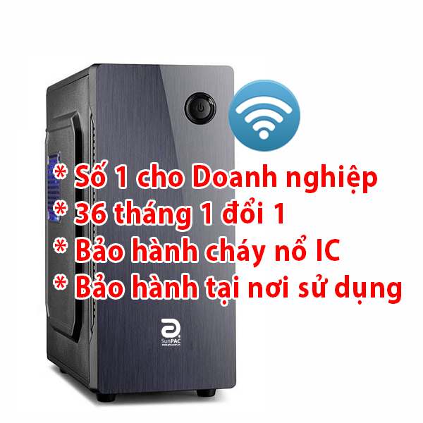 Máy tính để bàn Sunpac Mini Tower PG554MTW SSD/Wifi