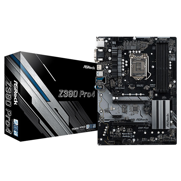 Main Asrock Z390 Pro4 (Chipset Intel Z390/ Socket LGA1151/ VGA onboard)