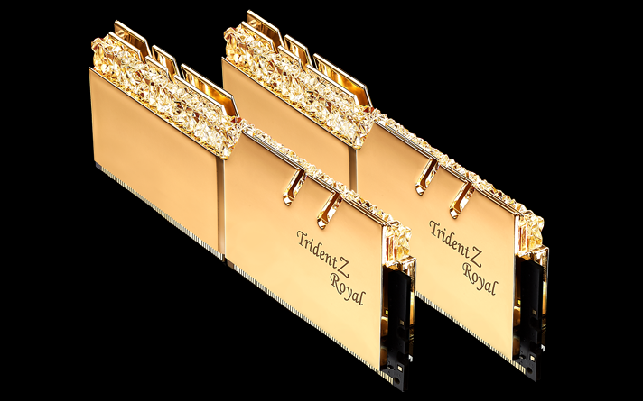 RAM KIT GSKill 16Gb (2x8Gb) DDR4-3200- Trident Z Royal (F4-3200C16D-16GTRG) Tản LED RGB