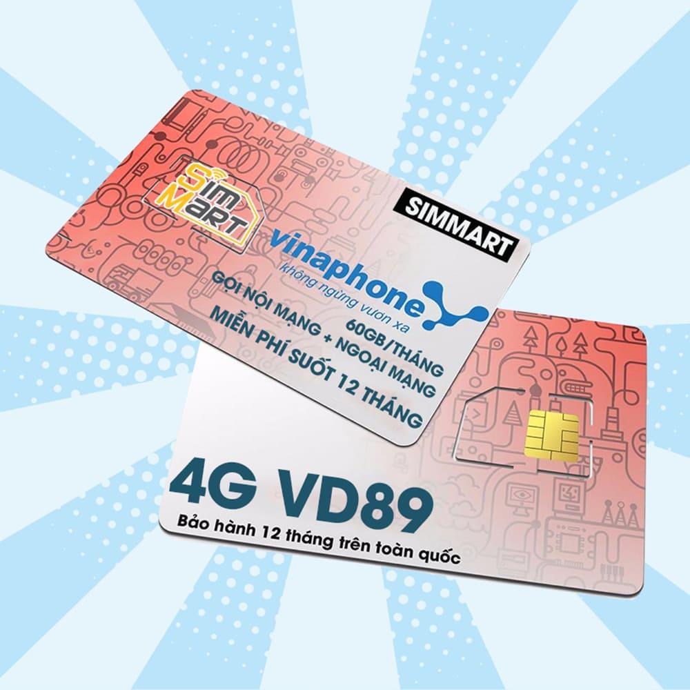 Sim VD89 64K-60Gb dung lương 3G/4G trong 30 ngày