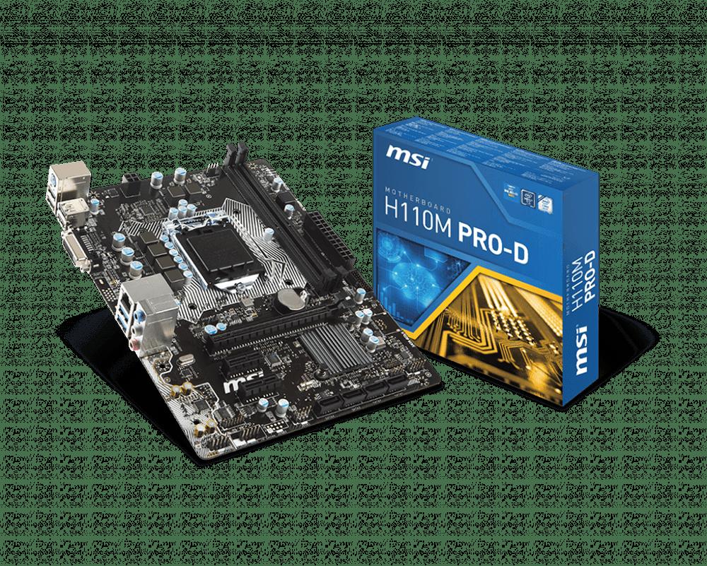Main MSI H110M PRO-D (Chipset Intel H110/ Socket LGA1151/ VGA onboard)