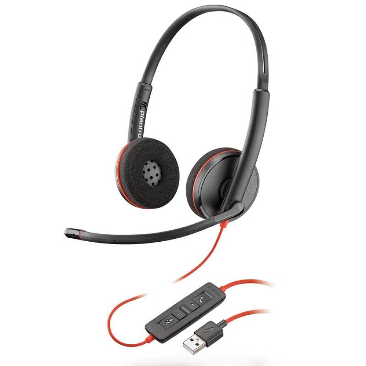 Tai nghe Plantronic C3220 Stereo (chuẩn USB, 2 tai)