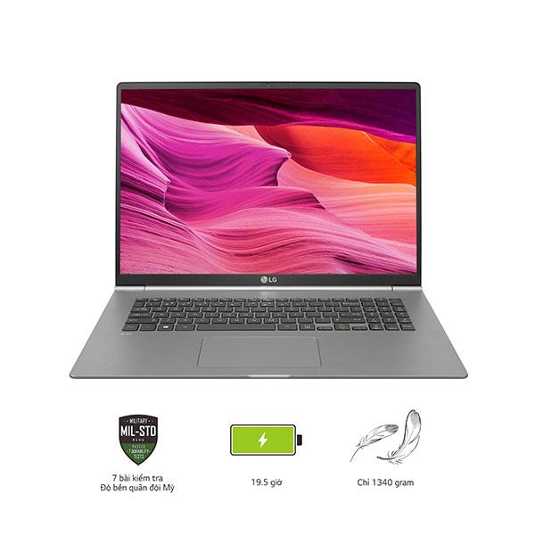 Laptop LG Gram 17Z990-V.AH75A5 (i7-8565U/8GB/512Gb SSD/ 17/VGA ON/Win10/Silver Gray)