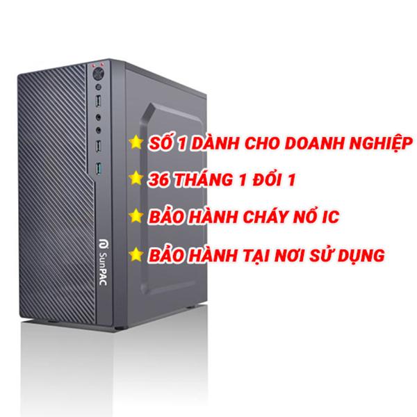 Máy tính để bàn Sunpac Mini Tower I3918MT 240Gb SSD / Core i3/ 8Gb/ 240Gb SSD/ Dos