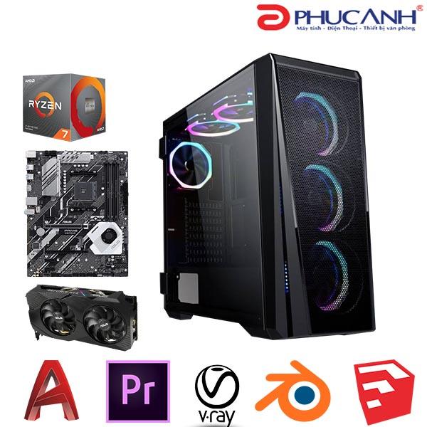 Máy tính để bàn Workstation PAWS Pro A03-3700X/X570/16GB/2060S