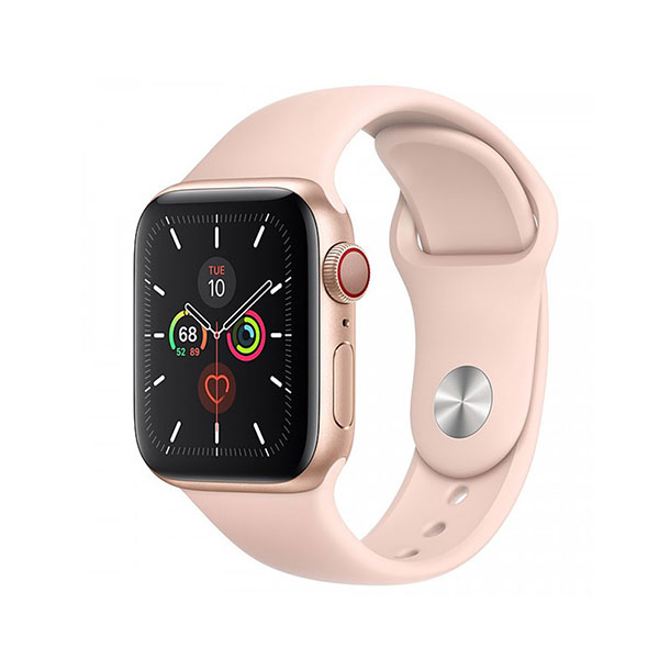 Đồng hồ thông minh Apple  Serie 5 GPS + Cellular MWX22VN/A (viền nhôm Vàng/ dây cao su Hồng)
