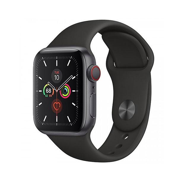Đồng hồ thông minh Apple  Serie 5 GPS + Cellular MWX32VN/A (viền nhôm xám/ dây cao su đen)