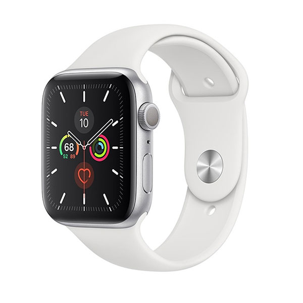 Đồng hồ thông minh Apple Serie 5 GPS + Cellular MWX32VN/A (viền nhôm bạc/ dây cao su trắng)