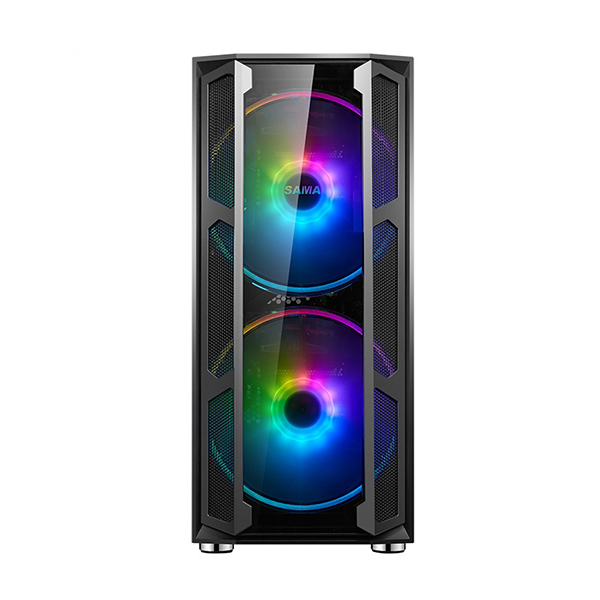 Vỏ máy tính Sama W03 kèm 2 Fan RGB (e-ATX, ATX, MicroATX, Mini-ITX)