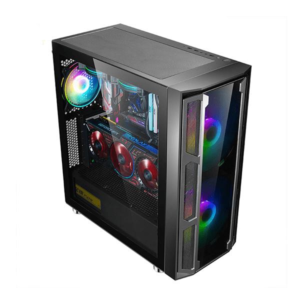 Vỏ máy tính Sama W03 kèm 2Fan RGB (e-ATX, ATX, MicroATX, Mini-ITX)