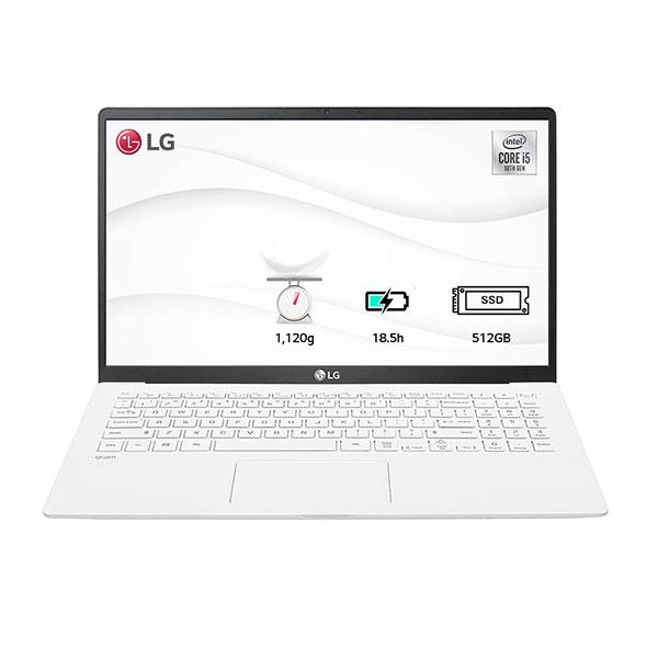 """Laptop LG Gram 15ZD90N-V.AX56A5 (i5-1035G7/8GB/512GB SSD/15""""FHD/VGA ON/Dos/White/LED_KB)"""