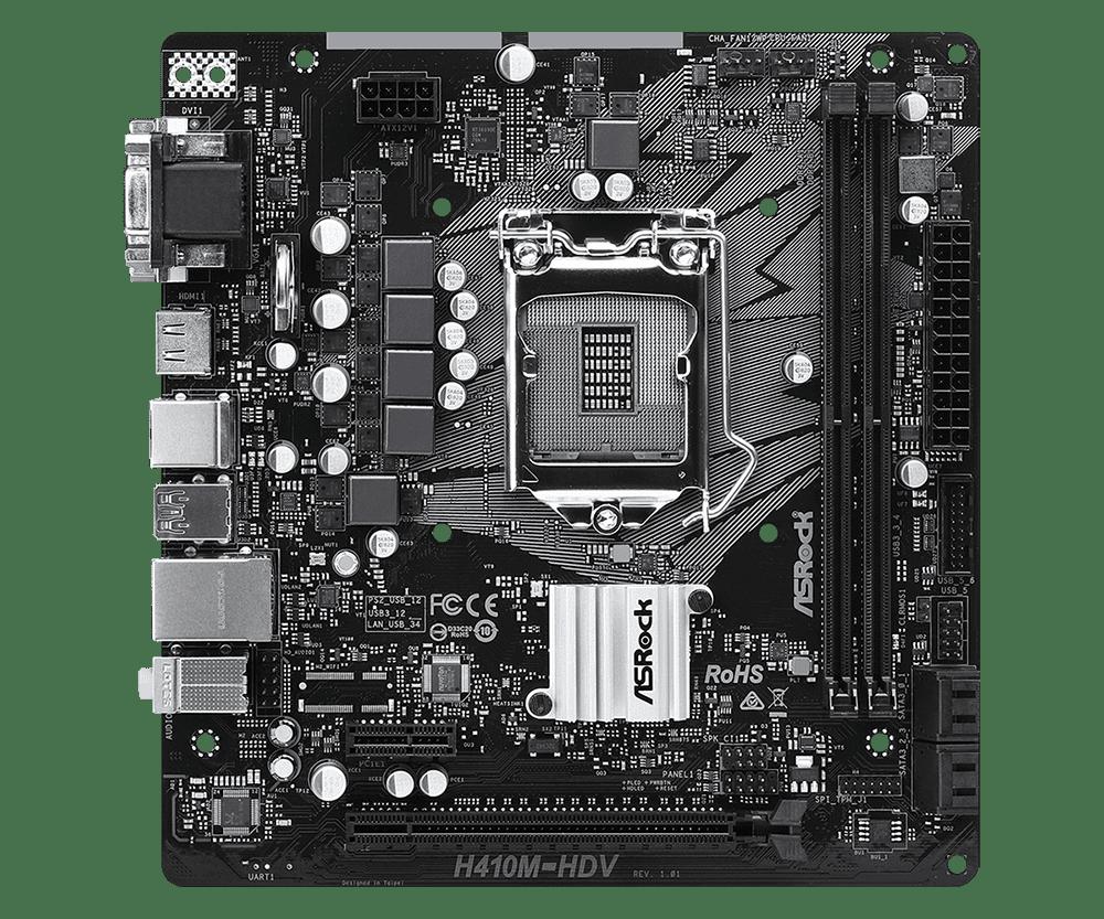 Main Asrock H410M-HDV (Chipset Intel H410/ Socket LGA1200/ VGA onboard)