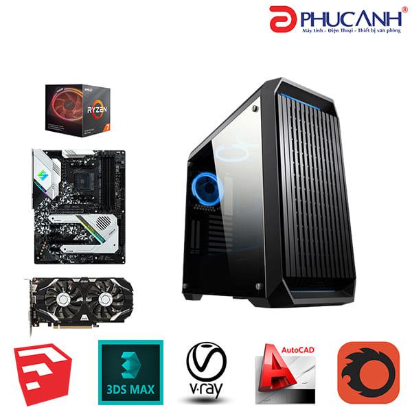 Workstation PAWS CREATOR A03-3700X/X570/16G/250G/1050TI